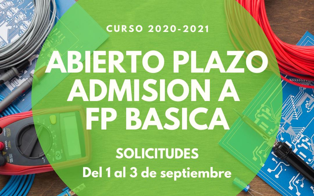 Abierto el plazo de admisión a FP BÁSICA