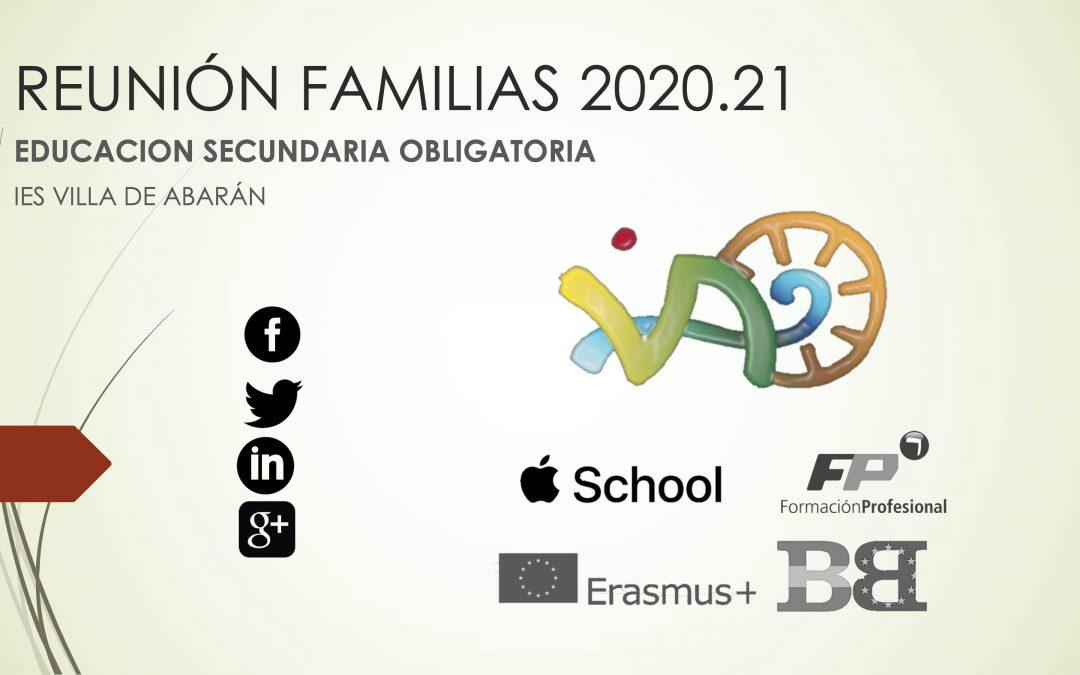 Presentaciones reuniones tutores con familias 2020.21
