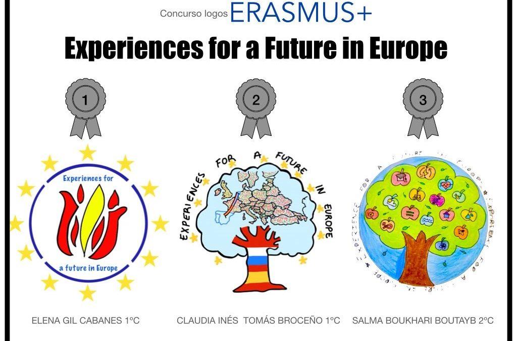 """Logos ganadores del proyecto Erasmus+ """"Experiences for a future in Europe"""""""
