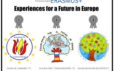 "Logos ganadores del proyecto Erasmus+ ""Experiences for a future in Europe"""